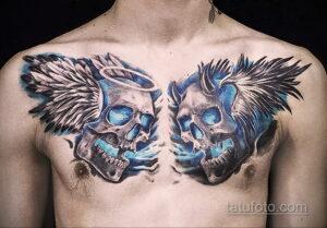 Фото интересного рисунка мужской тату 05.04.2021 №142 - male tattoo - tatufoto.com