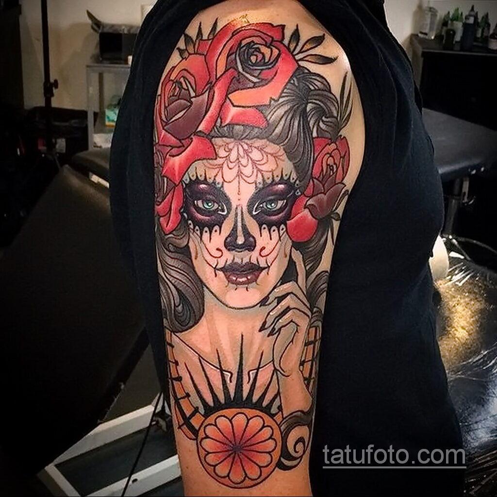 Фото интересного рисунка мужской тату 05.04.2021 №143 - male tattoo - tatufoto.com