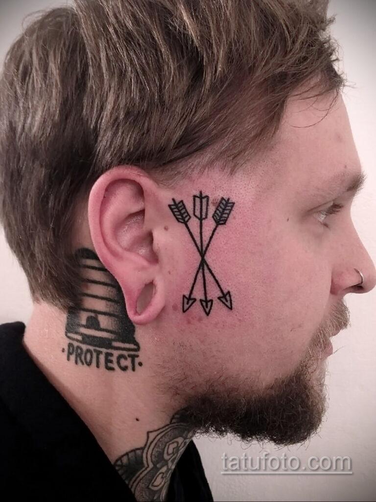 Фото интересного рисунка мужской тату 05.04.2021 №155 - male tattoo - tatufoto.com