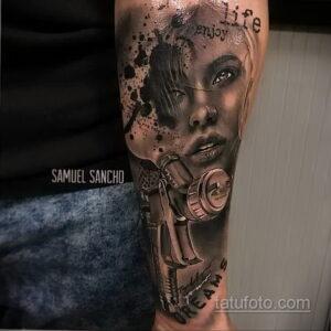 Фото интересного рисунка мужской тату 05.04.2021 №173 - male tattoo - tatufoto.com