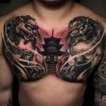 Фото интересного рисунка мужской тату 05.04.2021 №184 - male tattoo - tatufoto.com