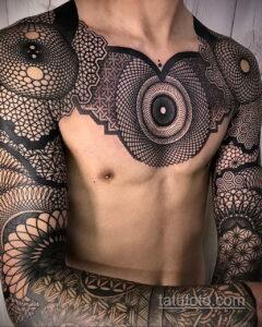 Фото интересного рисунка мужской тату 05.04.2021 №186 - male tattoo - tatufoto.com
