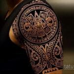 Фото интересного рисунка мужской тату 05.04.2021 №189 - male tattoo - tatufoto.com