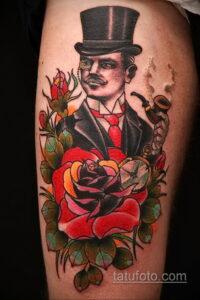 Фото интересного рисунка мужской тату 05.04.2021 №192 - male tattoo - tatufoto.com