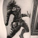 Фото татуировки с оборотнем 01.04.2021 №227 - werewolf tattoo - tatufoto.com
