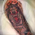 Фото татуировки с оборотнем 01.04.2021 №250 - werewolf tattoo - tatufoto.com