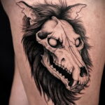 Фото татуировки с оборотнем 01.04.2021 №293 - werewolf tattoo - tatufoto.com