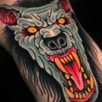 Фото татуировки с оборотнем 01.04.2021 №296 - werewolf tattoo - tatufoto.com