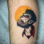 Фото татуировки с оборотнем 01.04.2021 №298 - werewolf tattoo - tatufoto.com