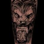 Фото татуировки с оборотнем 01.04.2021 №342 - werewolf tattoo - tatufoto.com