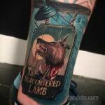 Фото татуировки с оборотнем 01.04.2021 №343 - werewolf tattoo - tatufoto.com