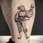 Фото татуировки с оборотнем 01.04.2021 №408 - werewolf tattoo - tatufoto.com