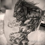 Фото татуировки с оборотнем 01.04.2021 №411 - werewolf tattoo - tatufoto.com