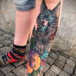 Фото татуировки с оборотнем 01.04.2021 №413 - werewolf tattoo - tatufoto.com