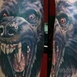 Фото татуировки с оборотнем 01.04.2021 №450 - werewolf tattoo - tatufoto.com