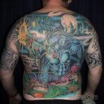 Фото татуировки с оборотнем 01.04.2021 №462 - werewolf tattoo - tatufoto.com