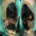 Фото татуировки с оборотнем 01.04.2021 №470 - werewolf tattoo - tatufoto.com