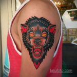 Фото татуировки с оборотнем 01.04.2021 №486 - werewolf tattoo - tatufoto.com