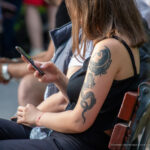 Тату дракон, мотылек и портрет девушки на левом плече и руке у девушки – Фото Уличная тату (street tattoo) № 13 – 27.06.2021 4