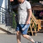 Тату морячка и якорь внизу ноги мужчины – Фото Уличная тату (street tattoo) № 13 – 27.06.2021 1