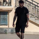 Тату скелет и тоннель с рельсами на ногах парня – Фото Уличная тату (street tattoo) № 13 – 27.06.2021 5