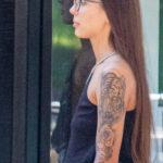Тату тигр и розы на левом плече девушки – Фото Уличная тату (street tattoo) № 13 – 27.06.2021 2