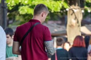 Тату узоры и геометрические узоры на правой руке у парня – Фото Уличная тату (street tattoo) № 13 – 27.06.2021 1