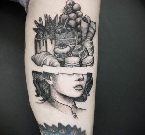 Фото татуировки круассан 05.06.2021 №176 - croissant tattoo - tatufoto.com