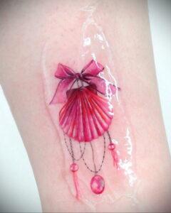 Фото тату Розовая ленточка 20.06.2021 №049 - tattoo pink ribbon - tatufoto.com