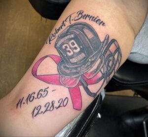 Фото тату Розовая ленточка 20.06.2021 №099 - tattoo pink ribbon - tatufoto.com