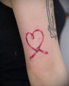 Фото тату Розовая ленточка 20.06.2021 №109 - tattoo pink ribbon - tatufoto.com