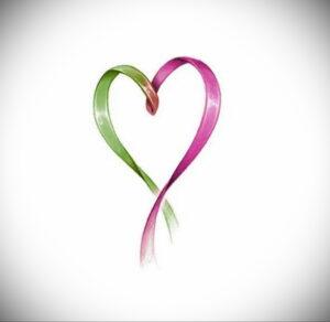 Фото тату Розовая ленточка 20.06.2021 №126 - tattoo pink ribbon - tatufoto.com