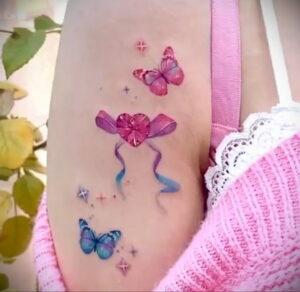 Фото тату Розовая ленточка 20.06.2021 №132 - tattoo pink ribbon - tatufoto.com