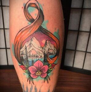 Фото тату Розовая ленточка 20.06.2021 №147 - tattoo pink ribbon - tatufoto.com