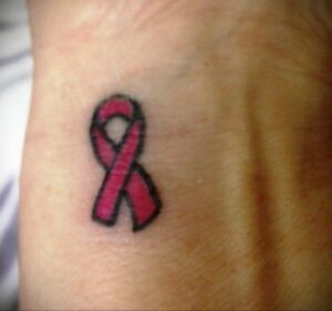 Фото тату Розовая ленточка 20.06.2021 №157 - tattoo pink ribbon - tatufoto.com