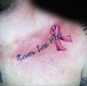 Фото тату Розовая ленточка 20.06.2021 №196 - tattoo pink ribbon - tatufoto.com