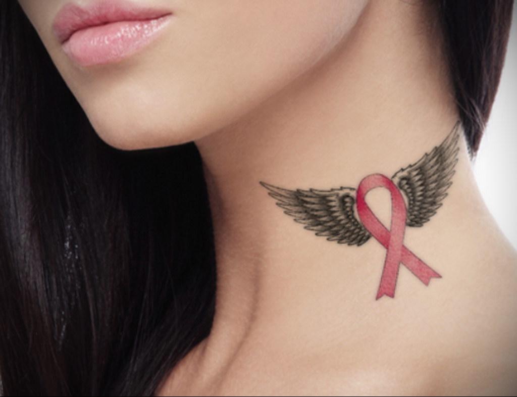 Фото тату Розовая ленточка 20.06.2021 №212 - tattoo pink ribbon - tatufoto.com