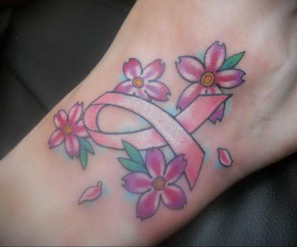 Фото тату Розовая ленточка 20.06.2021 №218 - tattoo pink ribbon - tatufoto.com