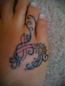 Фото тату Розовая ленточка 20.06.2021 №229 - tattoo pink ribbon - tatufoto.com