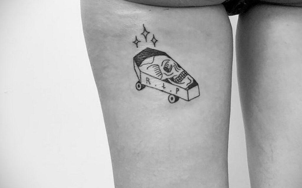 186 фото тату со скейтбордом в Международный день скейтбординга – 21 июня