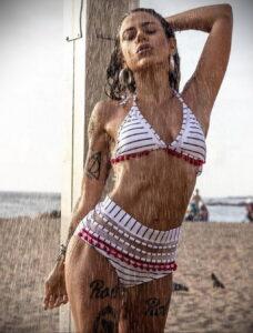 Фото Принятие душа с татуировкой 04.07.2021 №068 -Showering with a tattoo- tatufoto.com