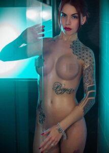 Фото Принятие душа с татуировкой 04.07.2021 №090 -Showering with a tattoo- tatufoto.com