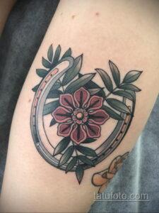 Фото рисунока тату с подковой 22.07.2021 №001 - drawing tattoo horseshoe - tatufoto.com