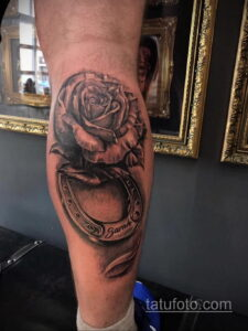 Фото рисунока тату с подковой 22.07.2021 №003 - drawing tattoo horseshoe - tatufoto.com
