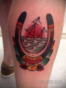 Фото рисунока тату с подковой 22.07.2021 №016 - drawing tattoo horseshoe - tatufoto.com