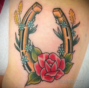 Фото рисунока тату с подковой 22.07.2021 №028 - drawing tattoo horseshoe - tatufoto.com