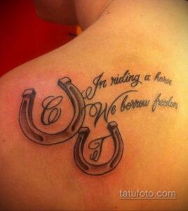Фото рисунока тату с подковой 22.07.2021 №051 - drawing tattoo horseshoe - tatufoto.com