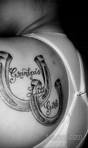 Фото рисунока тату с подковой 22.07.2021 №055 - drawing tattoo horseshoe - tatufoto.com