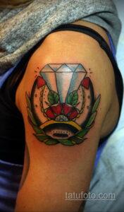 Фото рисунока тату с подковой 22.07.2021 №146 - drawing tattoo horseshoe - tatufoto.com