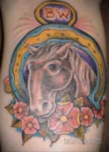 Фото рисунока тату с подковой 22.07.2021 №187 - drawing tattoo horseshoe - tatufoto.com